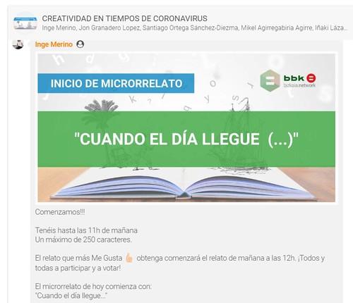 MicroRelatos en BBK Bizkaia Network