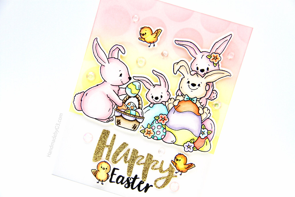 Happy Easter card closeup