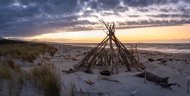 New Zealand / Driftwood Tipi