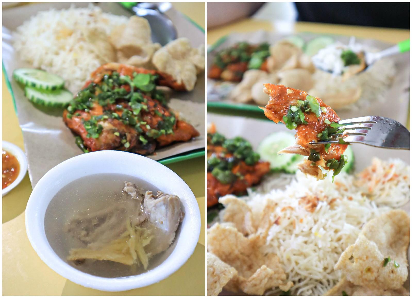 green-chilli chicken soup