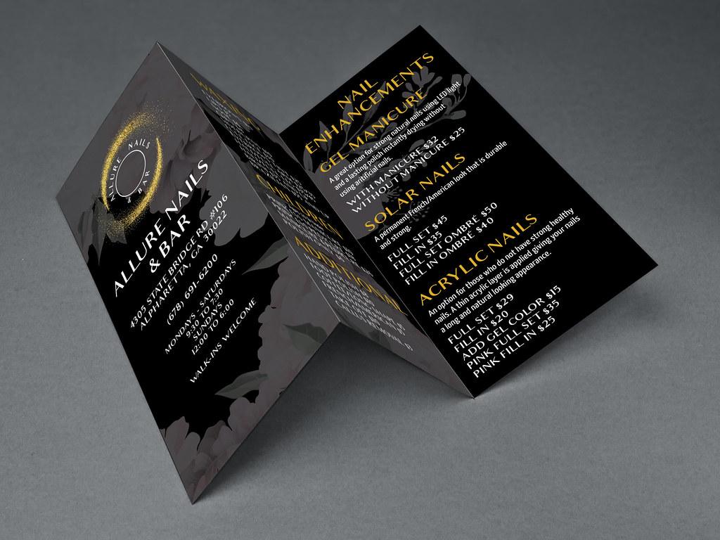 Allure Nails and Bar Trifold Design  Broken Rice Media LLC Tuyen Chau