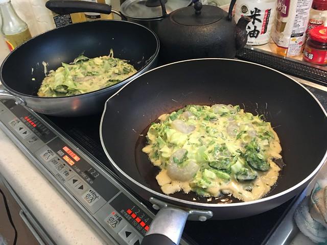 山菜のお好み焼き