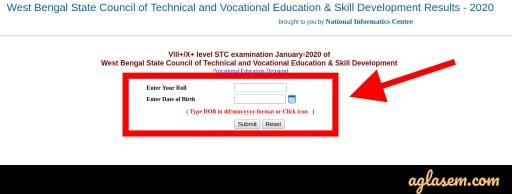 WBSCVET Result 2020 Announced at wbresults.nic.in - VIII+/X+ STC Jan 2020 Exam Result