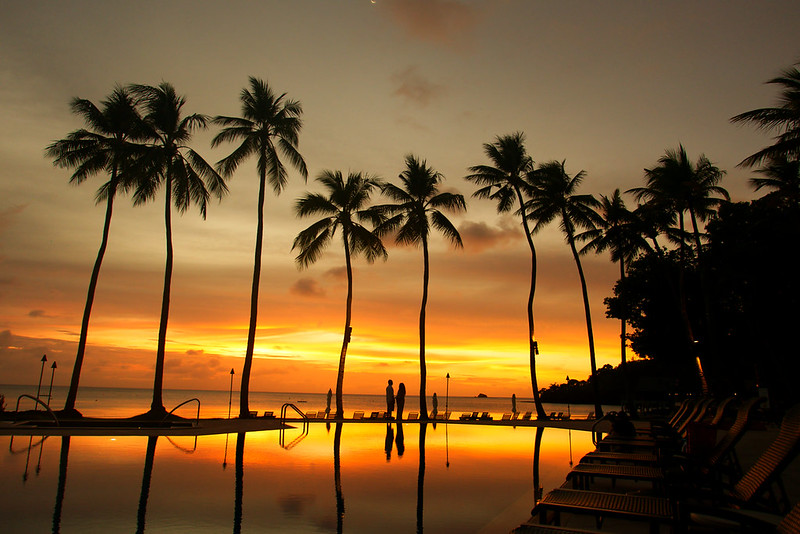 Palau, sunset, Palau pacific resort, 2020