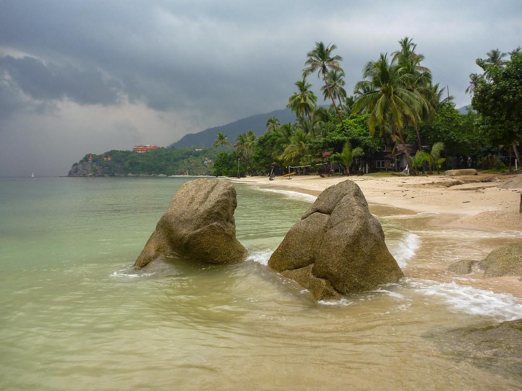 Leela Beach on a rainy day