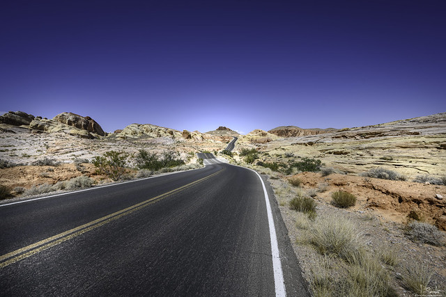 Road in Valley of Fire State Park - Nevada - USA