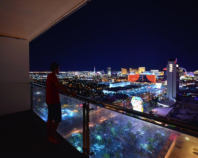 Vista desde nuestro apartamento en Las Vegas