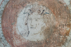 Painted tomb of Daziho Platorres, from Egnatia: detail of shield device