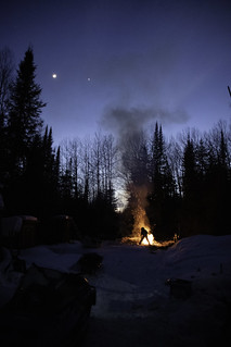 Late Winter Bonfire at the Remote Camp | by NetReacher Image Studios
