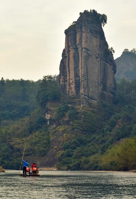 Rocky peak in Wuyishan park