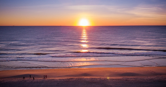 drone beach sunrise (Seaside Heights NJ)