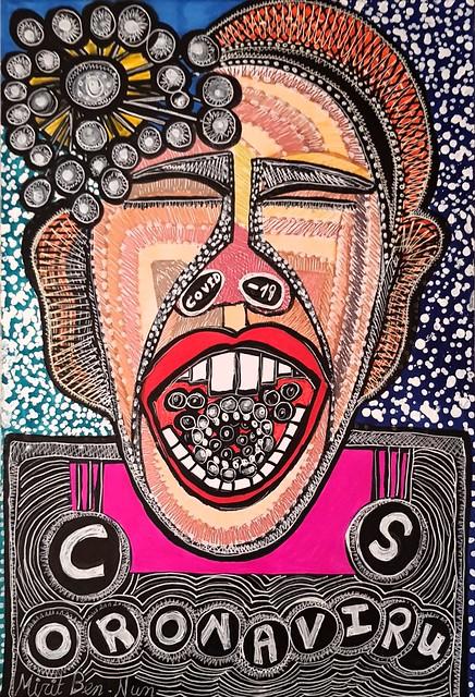 קוביד-19 קורונה ציור מירית בן נון אמנית ציירת ישראלית מודרנית עכשווית