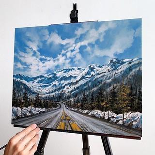 Colorful Landscape Painting