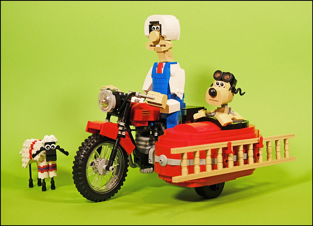 Wallace and Gromit RC Motorcycle with sidecar 1