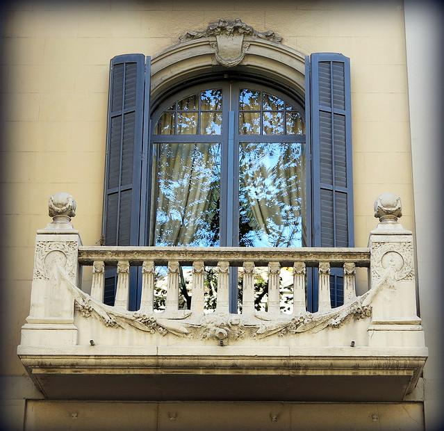 Stone balcony, Barcelona