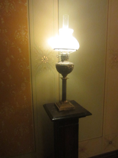 Lamp in office, Ayer's House  Museum, North  Terrace, 1846-76,   Adelaide