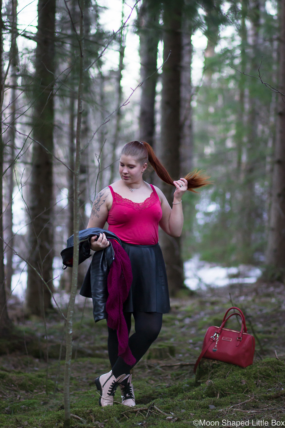 Outfit-with-reindeer-leatherskirt