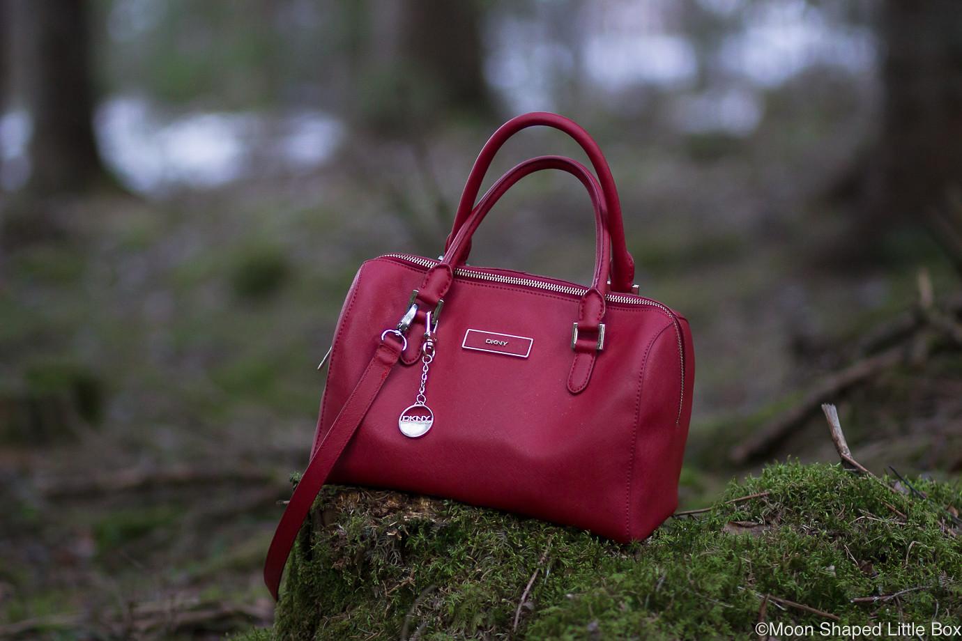 DKNY-laukku-punainen