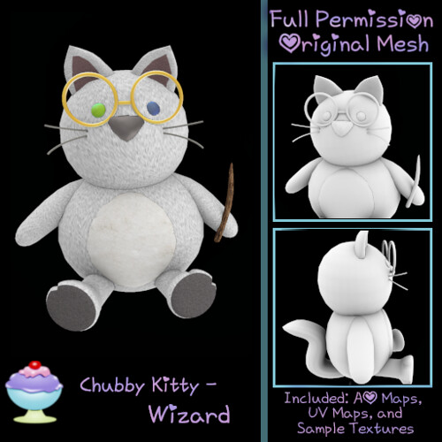 [Sherbert] Chubby Kitty - Wizard Ad - New Group Gift