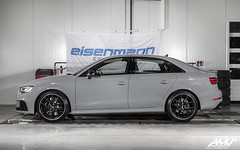 """Audi RS3 Limousine with Wagner Tuning Evo3 IC / downpipe / middle section 2x200CPSI, APR TIP and IP, BBS CI-R 19"""" wheels and ECU / TCU remap by ATM Chiptuning (524 KM / 664 Nm)"""