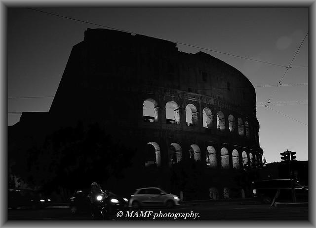 Il Colosseo a Roma.