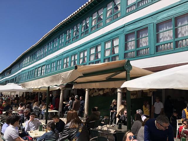 Terrazas en la Plaza Mayor de Almagro (Ciudad Real)