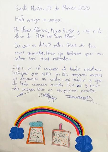 Cartas de los niños y niñas de 3ºA del colegio San Blas de Santa Marta.  (6)