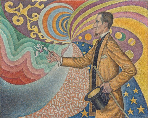 Paul Signac, Opus 217: Against the Enamel of a Background Rhythmic with Beats and Angles, Tones, and Tints, Portrait of M. Félix Fénéon in 1890, 1890