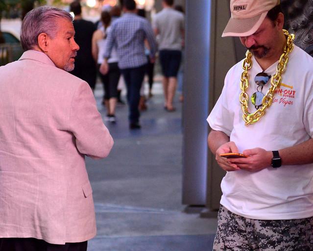Personajes y escenas curiosas en el Strip de Las Vegas