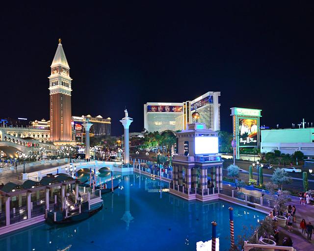 Hotel The Venetian en Las Vegas por fuera