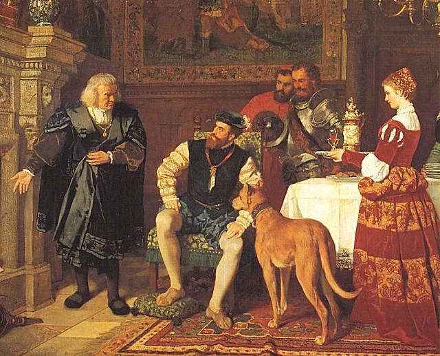 Reunión entre los Fugger y Carlos V