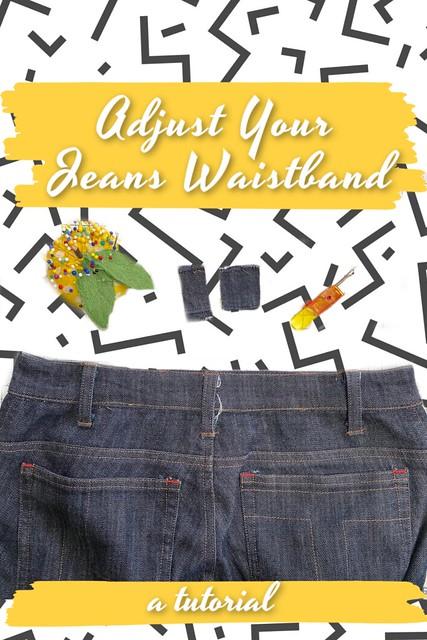 jeans waistabdn tutorial