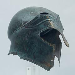 Bronze Corinthian helmet (inv. 5707) from Ruvo di Puglia