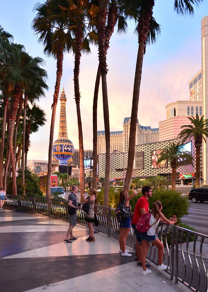 Atardecer en el Strip de Las Vegas