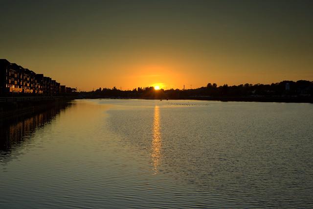 Golden Preston Docks Sunset