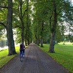Cycling in Avenham Park, Preston