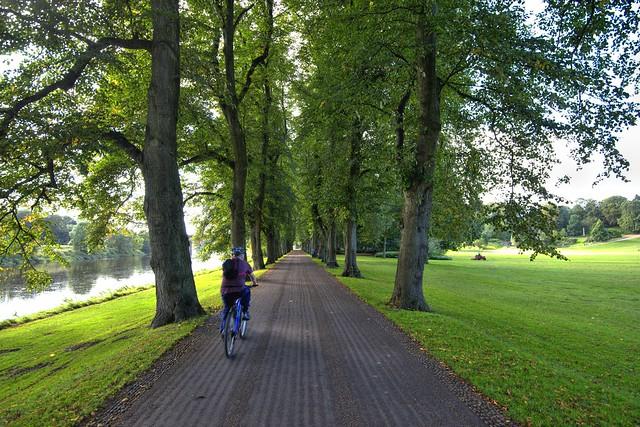 Cycling in Avenham Park, Preston