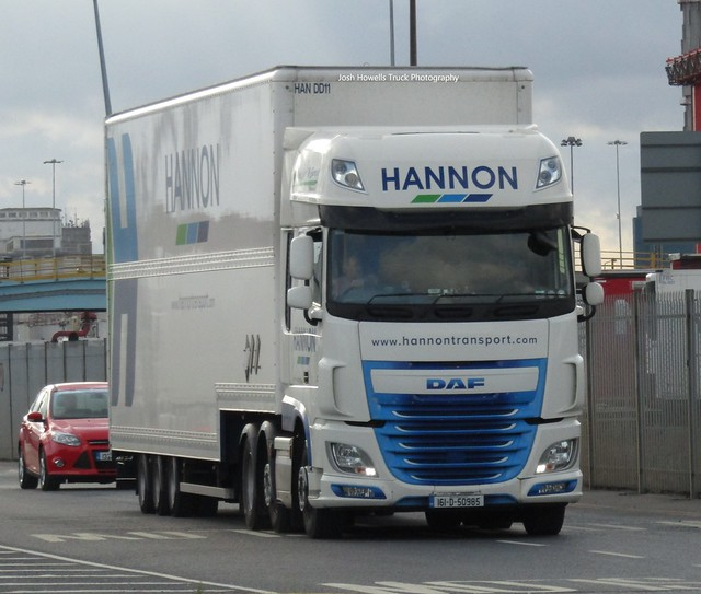 Hannon Transport 161-D-50985 (Ireland) At Dublin Ferry Port