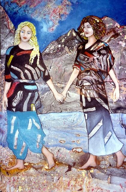 יולנדה אנטל ציירת דיוקנאות אמנית דיוקן הדיוקן נשים ציורי נשים אמנות  ישראלית עכשווית מודרנית