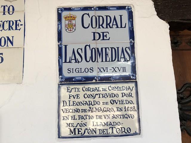 Entrada al Corral de Comedias, uno de los lugares imprescindibles que ver en Almagro