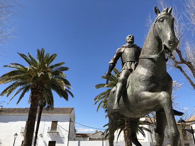 Estatua ecuestre de Diego de Almagro (Plaza Mayor, Almagro)