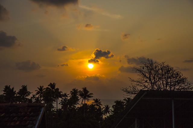 Golden Sunset, Kollam, Kerala, India
