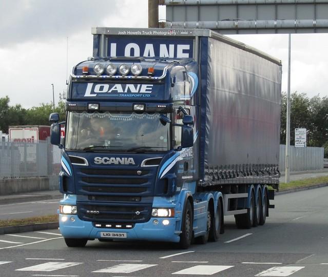 Loane Transport LIG 3431 (N. Ireland) At Dublin Ferry Port