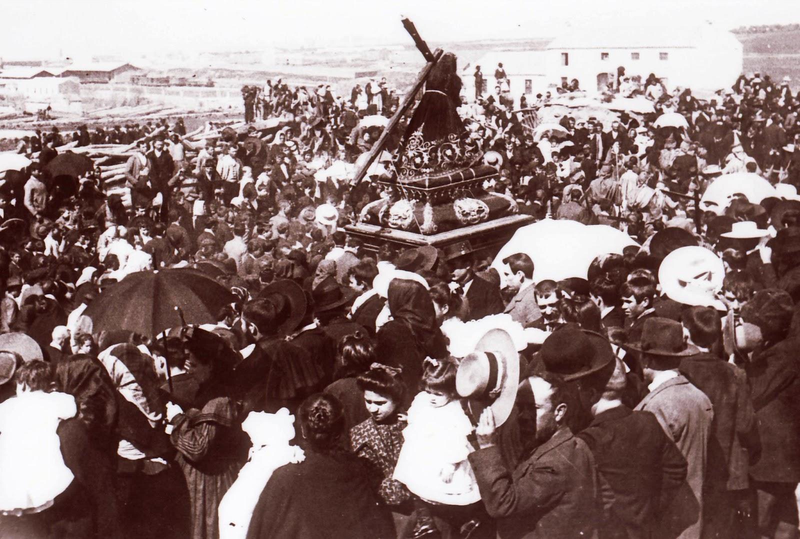 Bendición del Nazareno en el Ejido de San Sebastián (1912)