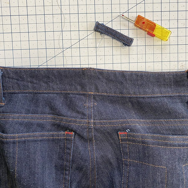 Jeans Alteration: Waistband