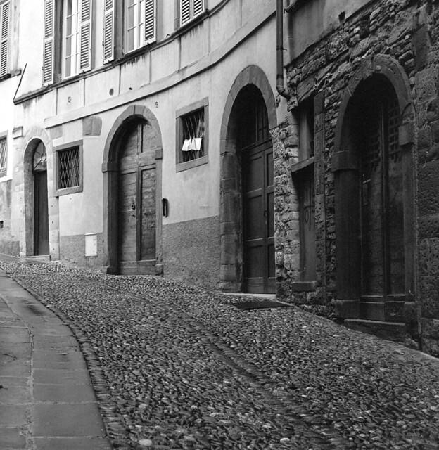 A street in Bergamo Citta Alta, Italy