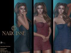 Narcisse Leona Denim Tube Dress @ Fameshed