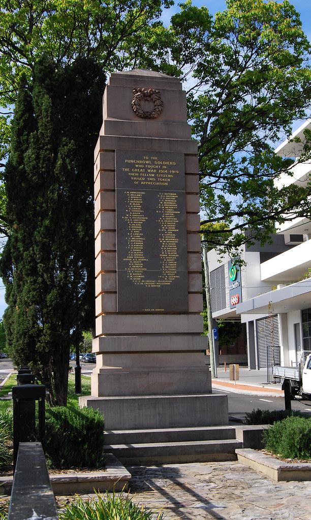 War Memorial, Punchbowl, Sydney, NSW.