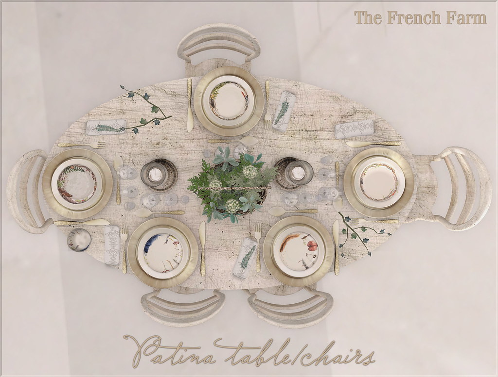 The French Farm-Patina table and chairs