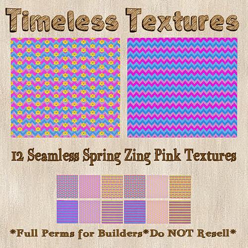 TT 12 Seamless Spring Zing Pink Timeless Textures
